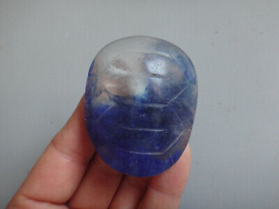 Chinese old Hongshan culture crystal carved Turtle shell statue pendant #365
