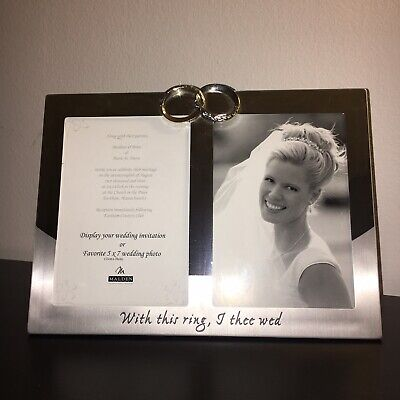"Malden International Wedding ""With This Ring, I Thee Wed""Photo Frame-5x7-NEW"