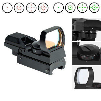 Red Green Dot Sight Reflex Holographic Scope Tactical Rifle Mount 11mm Rails