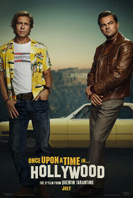 ONCE UPON A TIME IN HOLLYWOOD MOVIE POSTER 2 Sided ORIGINAL Version B VF 27x40