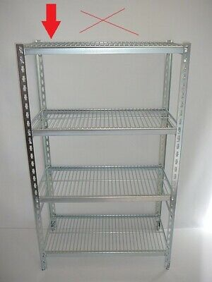 Coolroom Coldroom Shelving Zinc Plated Post Wire Shelves 1350H x 300W