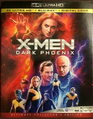 Authentic X-Men Dark Phoenix 4K Ultra Hd Uhd Blu-Ray Digital New Free Slipcover