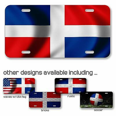 Dominica Country Flag Soccer Car Aluminum License Plate