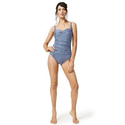 Moontide Swimsuit Tribal Beat Underwired Wrap M4023TB Swimming Costume Blue