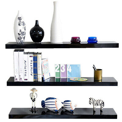 3 Tiers Floating Wall Shelves Corner Shelf Storage Display Bookcase MDF Wooden