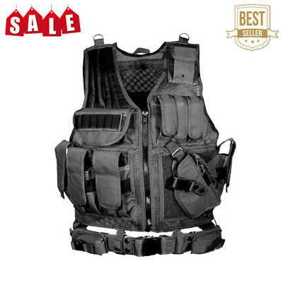 Police Military Tactical MOLLE / PALs Adj Plate Carrier Vest FAST SHIPPING NEW