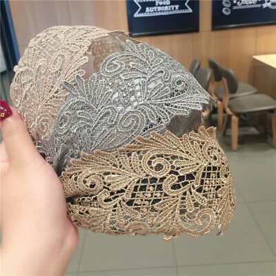 Ladies Wide Headband Lace Hairband Alice Hair Band Accessories Head Wrap Casual