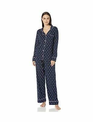 Hatley Women's Long Sleeve Pajama Sets Pyjama XL Blue (Pink Hearts 400)