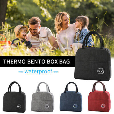 Adult Kids Portable Insulated Lunch Bag School Office Picnic Tote Waterproof Bag