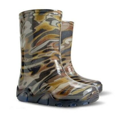 Army Camo Moro Kids Boys Girls Wellies Wellington Rainy Boots Snow All Sizes