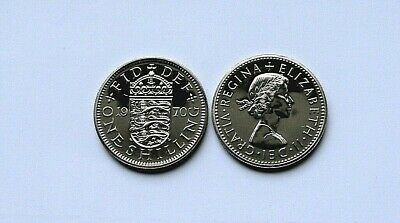 1970 PROOF ENGLISH SHILLING 100% proof coin,