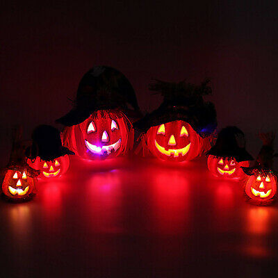 6 LIGHT UP JACK O LANTERNS Outdoor Yard Lawn Halloween Pumpkin Prop Decorations