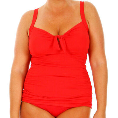 Capriosca Chlorine Resistant Tankini Top Red CRES12156A [Brand New AUS Stock]