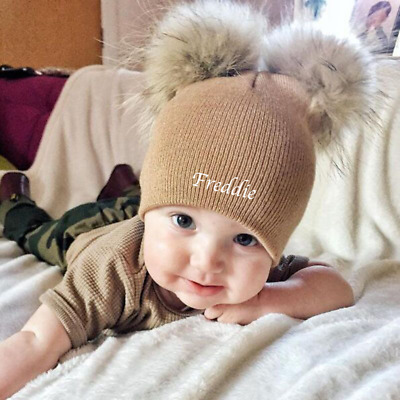 Personalised Name Baby Beanie Hat Winter Hat Boys Girls