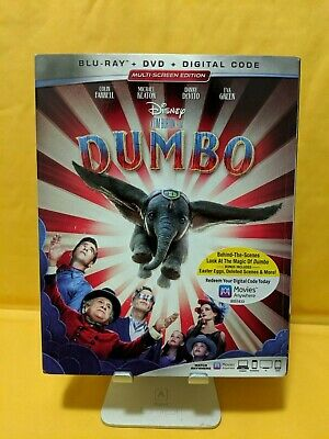 Dumbo [Blu-ray+DVD+Digital] BRAND NEW!! W/SLIPCOVER!! 2019