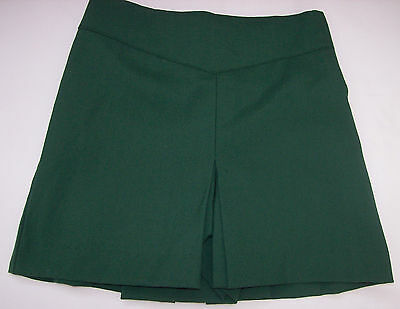 "New Girls Bottle Green PE Sports Gym Skorts/Shorts 18"" 20"" Waist Very Small size"