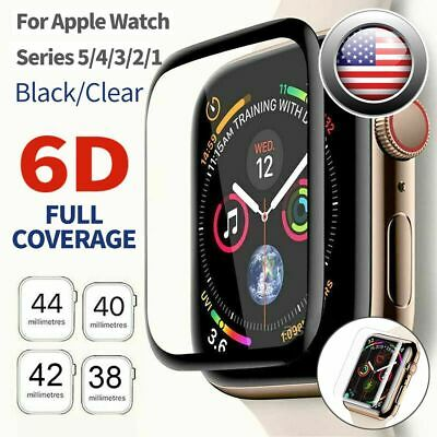 6DFor Apple Watch 5 4 3 2 1 Tempered Glass Screen Protector iWatch 38 42 40 44mm