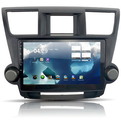 Stereo Radio GPS Navigation Fit for Toyota Highlander Android 8.1 Player 10.2''