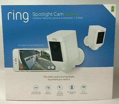 Brand New Ring Spotlight Cam Battery outdoor security camera 2-Pack - Sealed
