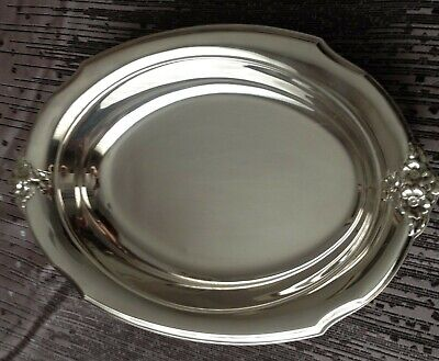 Vintage Webster Wilcox International Silver Co. IS #7112 Oval Serving Dish