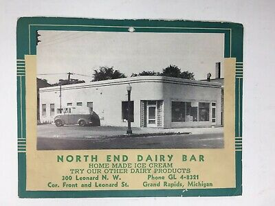 Vintage North End Dairy Bar Advertising Photo Grand Rapids MI Ice Cream