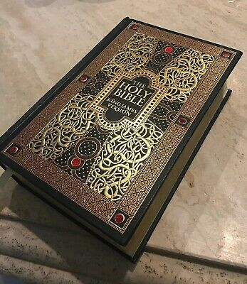 Holy Bible: King James Version Bonded Leather Illustrated by Gustave Dore Gold