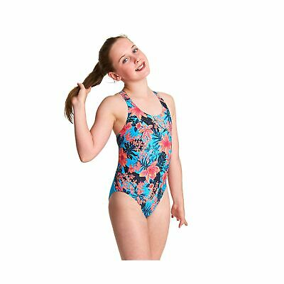 Clothing Zoggs Girls Labrynth Flyback One Piece Swimsuit One