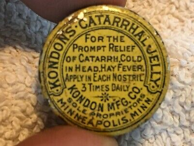 Kondon's Catarrhal Jelly Vintage Medicine Tin, Minneapolis, Minn.