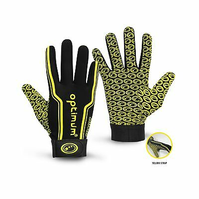 Optimum Velocity Rugby Gloves SB Junior Black / Yellow