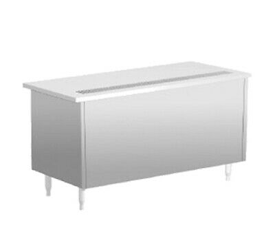"""Delfield SCU-74 74"""" Shelleysteel Beverage Serving Counter with 5"""" Casters"""