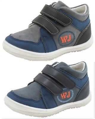 New Boys Kids Baby Leather Lined Trainers First Walking Shoes Straps Boots Uk