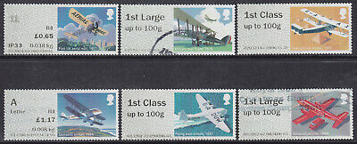 2017 GB Post & Go Mail By Air 1st Class R17YAL Set Of 6 Used Stamps OFF PAPER
