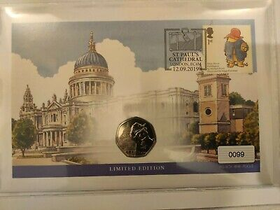 Paddington Bear 50p at St Paul's Cathedral Coin & Stamp Cover 2019 Ltd Ed BU