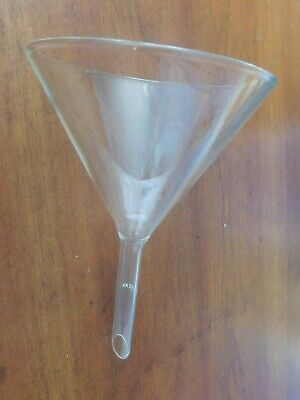 "Large Pyrex 8"" Laboratory Glass Funnel Used by Bristol Myers Part 6120-5"
