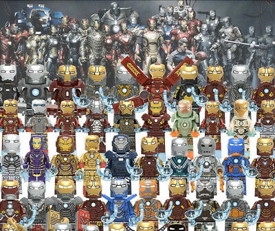 LEGO Iron Man Suits MARK 1-50 +++ ~ Custom Minifigures ~ ***BUY 3 GET 1 FREE***