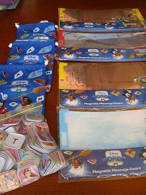 large bundle of 170 Woolworths Disney Words Tiles, 4 Message Boards 3 Carry Bags