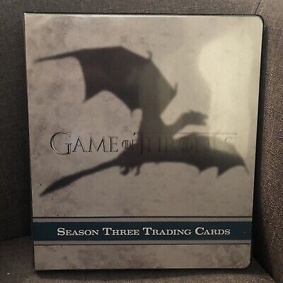 Official Game Of Thrones Season 3 Trading Card Binder Album