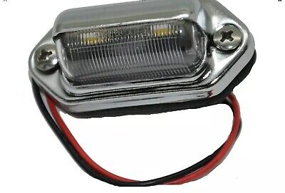 Grand General LED Light 2 White Clear lens license plate interior Auxiliary Led