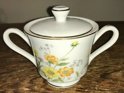 VINT NORLEANS CHINA MADE n JAPAN ALLEGRO SUGAR BOWL WITH LID HTF EUC