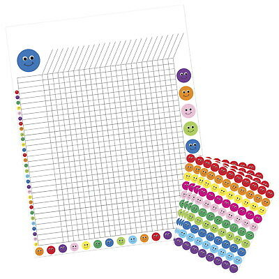 Hygloss Incentive Poster with 9600 Smiley Stickers, 17 x 22 Inches, Assorted