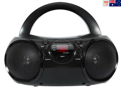Portable Boombox CD Player AM/FM Radio Stereo Music LED Display Aux-in MP3 Audio