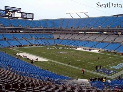 2 Silver Club Tickets Carolina Panthers vs New Orleans Saints Sec 309 Row 5