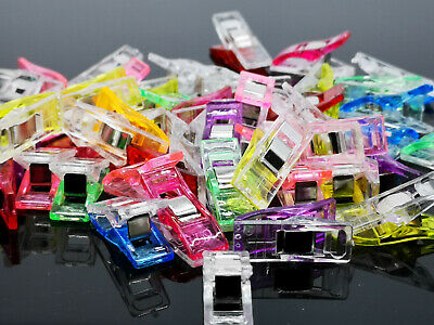 50x Plastic Wonder Clips For Quilting Sewing Knitting Crochet Craft Tool