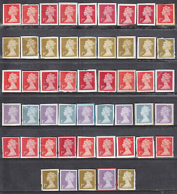 50 x 1st Class Unfranked Stamps On Paper With Faults Face Value £35.00 (LOT03f)