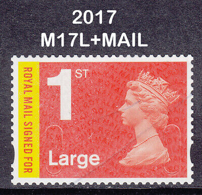 2017 GB Machin 1st Class Large Royal Mail Signed For SG U3050 M17L+MAIL Used