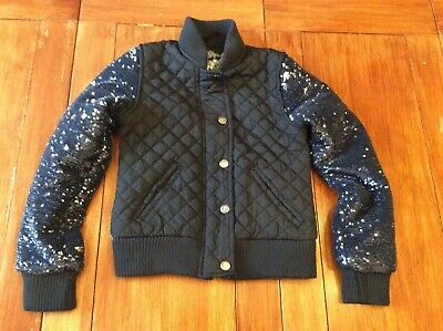 Girls Black Jacket Age 7-8