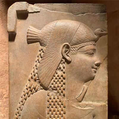 Egyptian art - Cleopatra relief sculpture - dressed as Isis