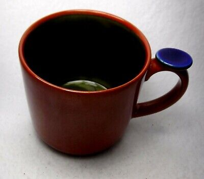 LINDT-STYMEIST china YO HAN Rust & Olive Green Mug - 3-1/4""