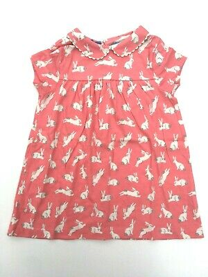 NEW Baby Pink Bunny Jersey Dress Age 3-24 Months 2-3 YEARS Ex Boden RRP £20