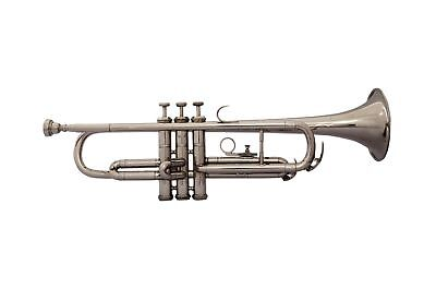 SAI MUSICAL BAND-DIRECTOR-CHOICE-New-Silver-Bb-FLAT-Trumpet-With-Free-Case-MP